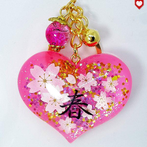 Anhänger Herz Sakura Kirsche Frühling