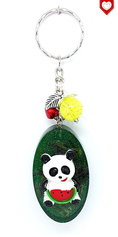 Panda und Melone Anhänger Kunstharz