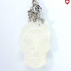 Anhänger Totenkopf Schädel Skull Kristall