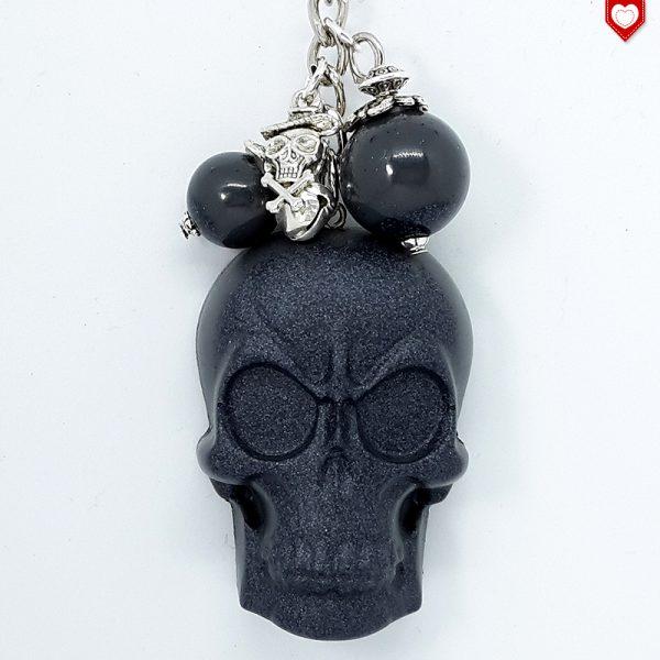Anhänger Totenkopf Schädel Skull Schwarz