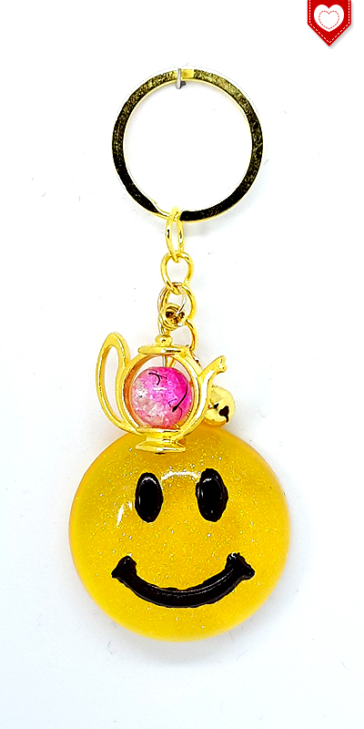 Anhaenger Smiley Gold Resin 02