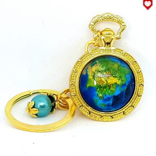 Taschenuhr Erde Weltall Asien Anhänger