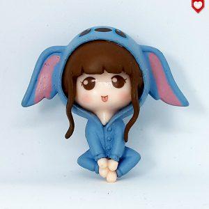 Mädchen blau Kawaii Romantische Figuren