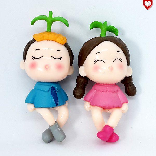 Kinder Paar Kantensitzer Romantische Figuren