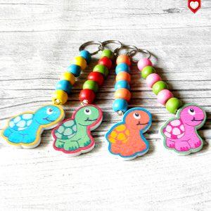 Taschenanhänger Kinder Holzperlen Schildkröte 1