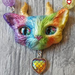 Faun Kitten Teufel Katze Rainbow