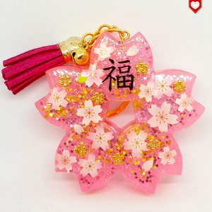 Anhänger Kirschblüte Sakura Glück Quaste Beere 03