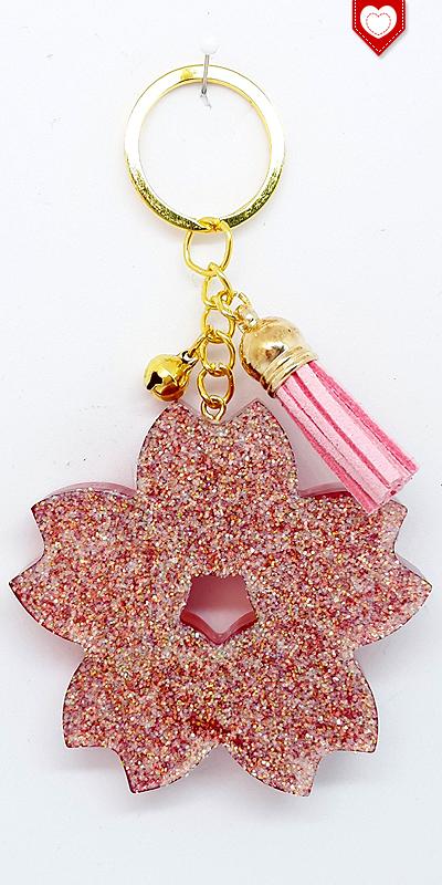 Anhänger Kirschblüte Sakura Glück Quaste Rosa 01