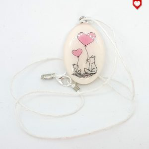 Halskette Baumwolle Füchse Liebe 02