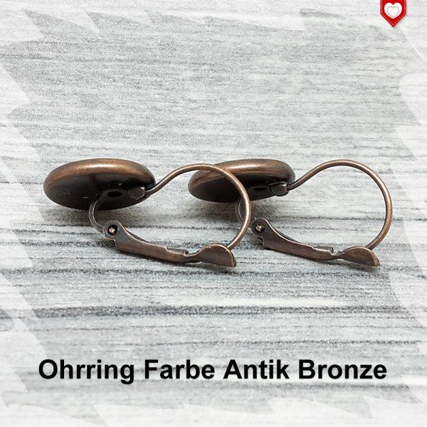 Ohrring Farbe Antik Bronze 12mm