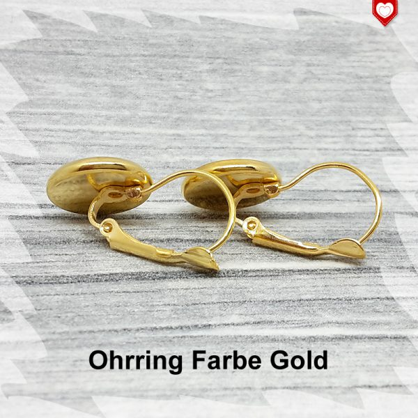 Ohrring Farbe Gold 12mm