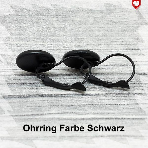 Ohrring Farbe Schwarz 12mm