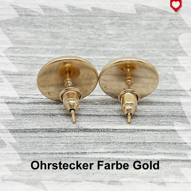 Ohrstecker Farbe Gold 12mm