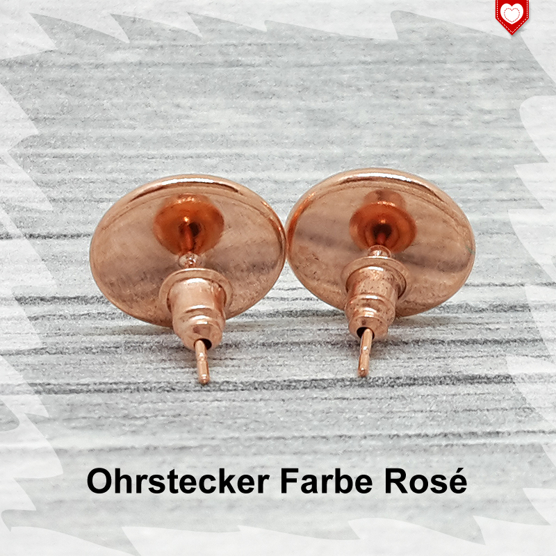 Ohrstecker Farbe Rose 12mm