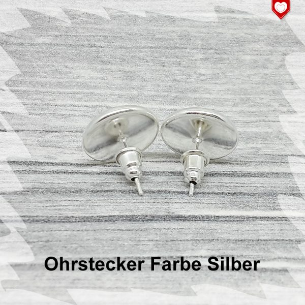 Ohrstecker Farbe silber 12mm