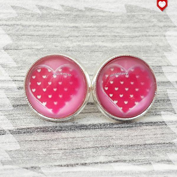 Ohrstecker 12mm I love Pink