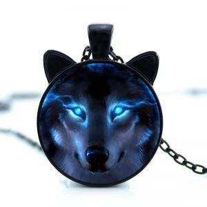 Kette Wolf schwarz