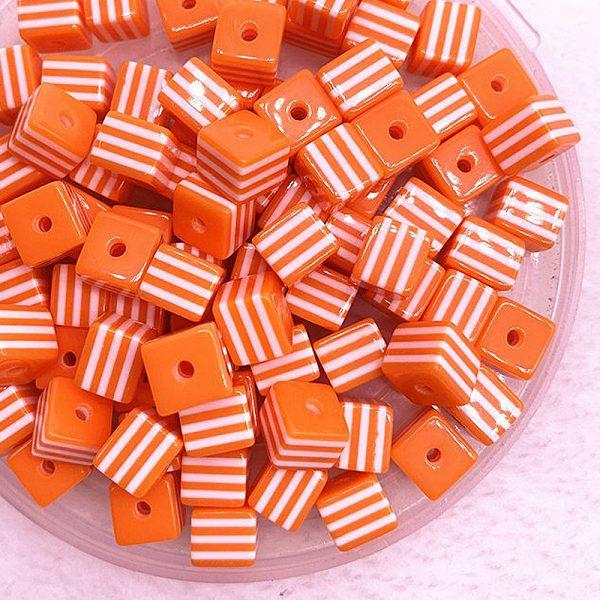 Perlen_Beads_Wuerfel_gestreift_orange3