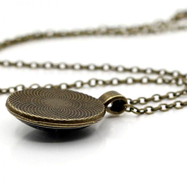 Heilige Sri Yantra Halskette bronze 02