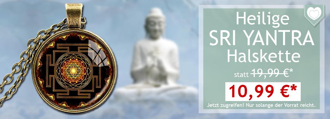 Heilige Sri Yantra Halskette