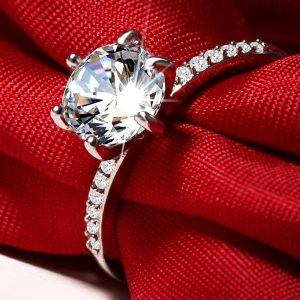 Luxus Ring 1 Karat ZirKon Kristall 9