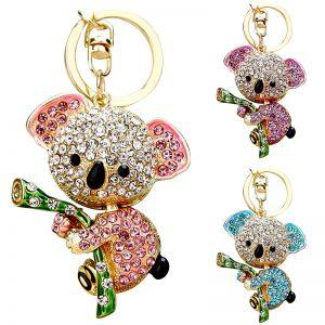 Schlüsselanhänger Taschenanhänger Koala Bär Strass 1