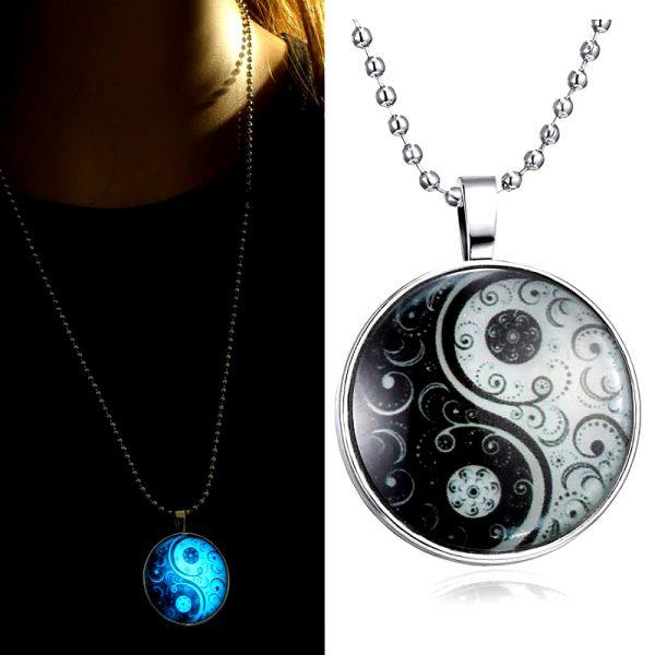Yin Yang Halskette leuchtet im Dunkeln 02