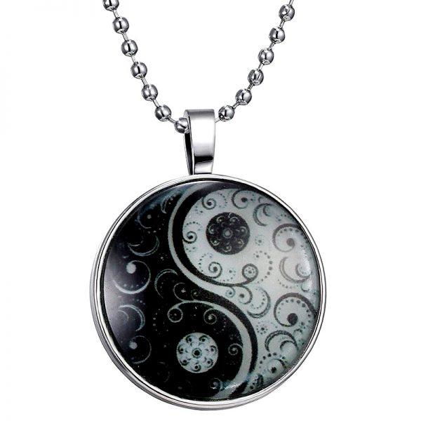 Yin Yang Halskette leuchtet im Dunkeln 03