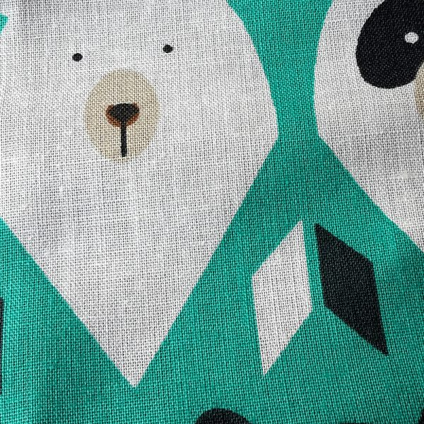 Mund Nasenmaske oval Bären grün 1