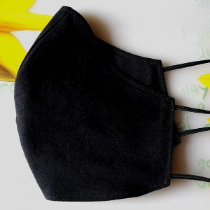 Mund Nase Maske schwarz