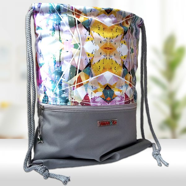 Stoffbeutel Tasche Reissverschluss Kaleidoskop 1