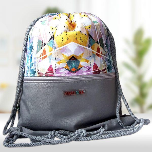Stoffbeutel Tasche Reissverschluss Kaleidoskop 2