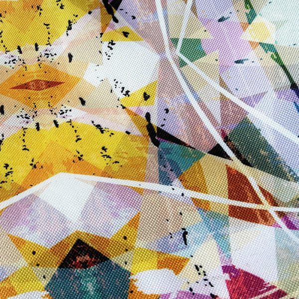Stoffbeutel Tasche Reissverschluss Kaleidoskop 4