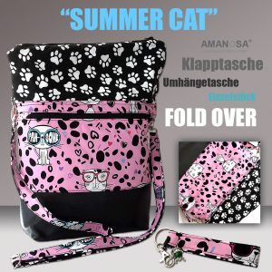 Fold Over Klapptasche Summer Cat 1