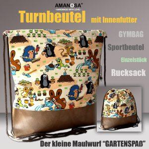 Turnbeutel Der kleine Maulwurf Gartenspass 1