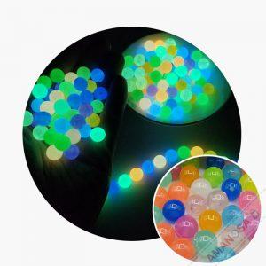 Acryl Perlen leuchten im Dunkeln rund 8mm 10 Stk