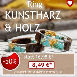 Angebot Ring Kunstharz Holz AMANOSA