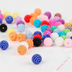 Bayberry Acryl Perlen mit Noppen verschiedene Farben 10mm 10 Stk