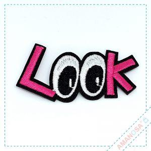 Aufnäher Bügelbild Patch Applikation Augen Look vorn