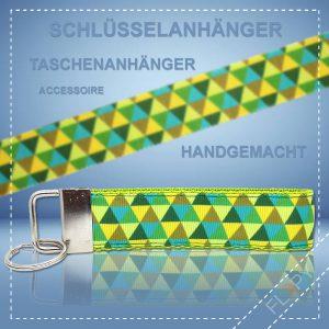 Schlüsselanhänger Taschenanhänger Dreiecke Grün