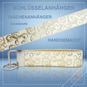 Schlüsselanhänger Taschenanhänger Paisley Gold