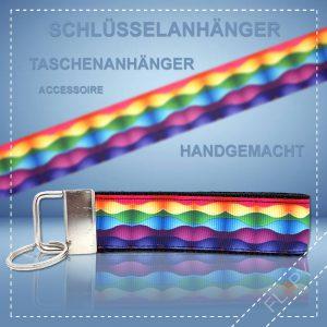 Schlüsselanhänger Taschenanhänger Regenbogen Wellen