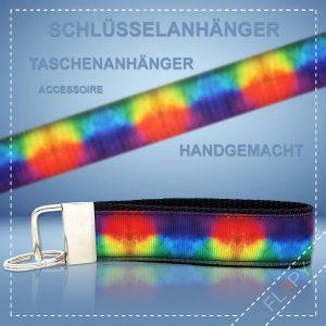Schlüsselanhänger Taschenanhänger Regenbogen Wolken