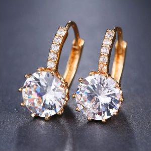 Ohrring Gold Kristall Zirkon Geschenk