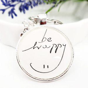 Schlüsselanhänger Geschenk Be Happy 4