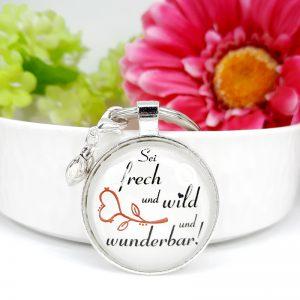 Schlüsselanhänger Frech Wild Wunderbar Geschenk 8