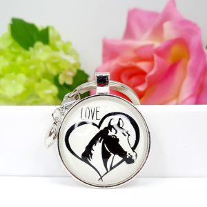 Schlüsselanhänger Liebe Pferd Geschenk 01