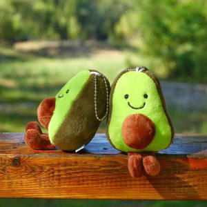 Schlüsselanhänger Plüsch Avocado 01