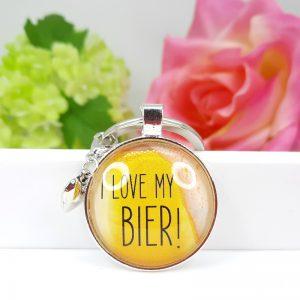 Schlüsselanhänger I love my Bier Geschenk 01
