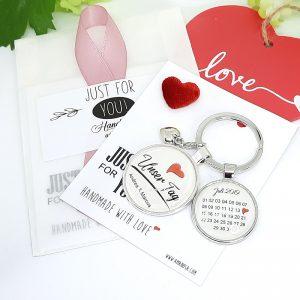 Schlüsselanhänger Personalisiert Hochzeit Verlobung Unser Tag Geschenk 03